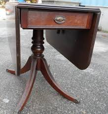 Drop Leaf End Table Brandt Duncan Phyfe Style Mahogany Drop Leaf Dining Room Table