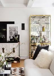 Best BLACK WHITE  GOLD Images On Pinterest Home Living - Black and white family room