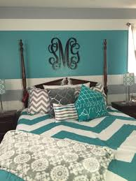 turquoise gray and white teen bedroom my daughter decorated her