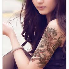 female tattoo arm sleeves custom chinese dragon design men sleeve arm temporary tattoo cool