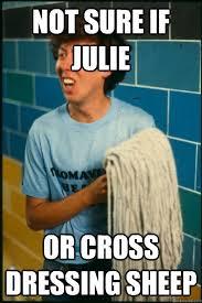 Melvin Meme - not sure if julie or cross dressing sheep melvin meme quickmeme