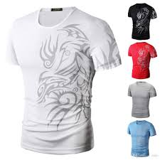 men u0027s fashion sport t shirt shirts short sleeve o neck dragon
