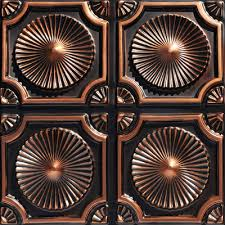 Tin Ceiling Panels by Whirligigs Faux Tin Ceiling Tile Glue Up 24