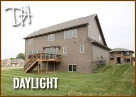 daylight basement homes walkout lots vs daylight lots vs standard lots homes