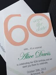 custom save the dates save the date 60th birthday save the date birthday cards card
