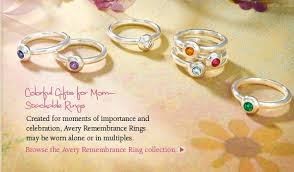 avery mothers ring colorful gifts for avery jewelry stackable avery