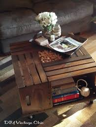 coffee table make a vintage wine crate coffee table console
