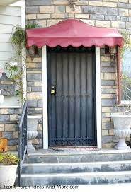 Awning Aluminum Awning Over Front Door Metal Entry Door Awnings Entry Door Wood