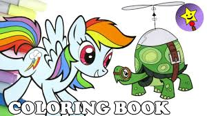 rainbow dash and tank coloring book page mlp my little pony