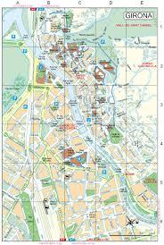 Girona Spain Map by Girona Downtown Map 1999 Full Size