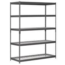 5 Shelf Wire Shelving Amazon Com Edsal Trk 602478w5 Heavy Duty Steel Shelving In Black