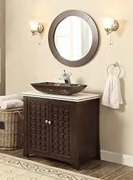 Giovanni Vessel Sink Vanity Cabinet Model HFA With Matching - Bathroom vanity cabinet for vessel sink
