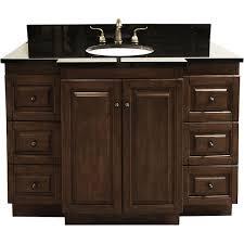 bathroom vanity with single sink granite top 48 inch single sink