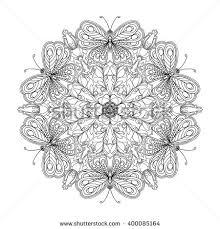 vector abstract circle mandala style stock vector 384849580