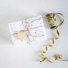 gold gift wrap golden constellations giftwrap wrapping paper gold metallic