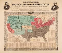 Map Of The Southern States by Reynolds U0027s Political Map Of The United States Cornell University