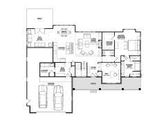 ranch style floor plans with walkout basement elegant bedroom