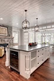 kitchen with black island and white cabinets 50 black countertop backsplash ideas tile designs tips