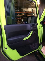 jeep wrangler jk 4 door interior trim kit gecko green