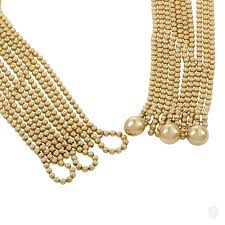 cartier yellow gold necklace images Jewelry cartier draperie de decolette 18k yellow and white gold