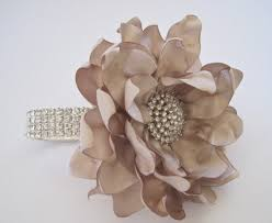 Wrist Corsage Prices Wrist Corsage Champagne Satin Rhinestone Bracelet Bride
