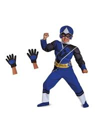 blue power ranger toddler boys costume gloves superhero