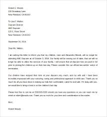 child care termination letter amitdhull co