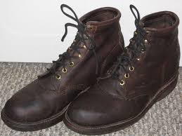 s boots size 9 vtg 70s chippewa leather outdoor sport birding work
