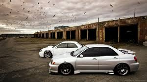 stanced subaru download 1366x768 slammed subaru wallpaper