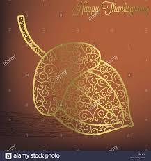 filigree thanksgiving card in vector format stock vector