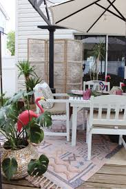 Magic Garden Table And Chairs Boho Paradise Patio Makeover With World Market Before And After