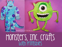 printable monsters crafts