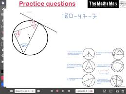 circle theorems prctice questions and answers youtube