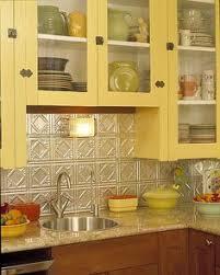 backsplash for yellow kitchen planning to put up this faux tin tile backsplash up in my kitchen
