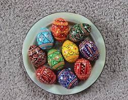 ukrainian easter eggs 10 wooden ukrainian easter eggs pysanka pysanky pisanki small size