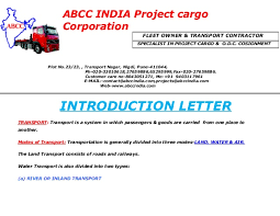 abcc india introduction letter