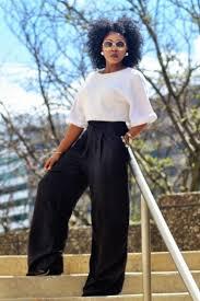 pintrest wide wide leg pants box crop top black white women s fashion