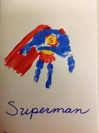 superman handprint craft for kids handprint footprint art
