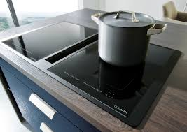 Hob With Built In Extractor by Contur 54 140 Gloss Lacquer Island Kitchen Markus Schmid Kitchens