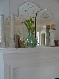 etched vintage mirrors look great grouped together make a