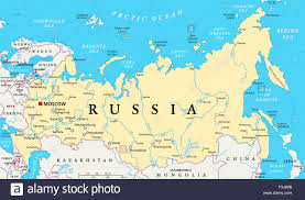 Moscow Map Russia Political Map With Capital Moscow National Borders