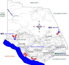 ventura county map ventura county boat rs map