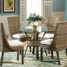 Round Glass Table And Chairs Sunroom Furniture Seating Casual Dining Living Room Panama Jack