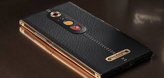 golden lamborghini lamborghini alpha one smartphone has leather golden stitching