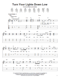 lights down low guitar chords turn your lights down low sheet music direct