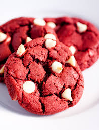 cooking classy red velvet white chocolate chip cookies chocolaty