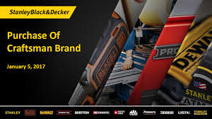 Crafstman by Sb U0026d Buys Craftsman Brand For 900m Tools Of The Trade
