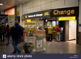 ttt moneycorp bureau de change near the passenger luggage stock