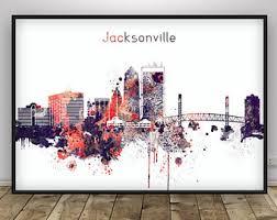 Home Decor Jacksonville Fl Jacksonville Skyline Jacksonville Florida Cityscape