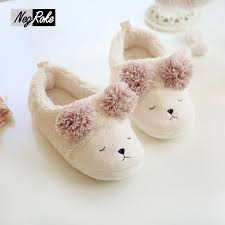 Bedroom Shoes For Womens Cute Sheep Warm Winter Shoes Women Home Slippers Women Indoor